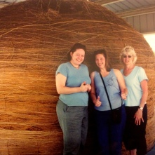 The World's Largest Ball of twine with Mom and Sis, Cawker City, KS. 2004