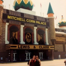 The Corn Palace with my sister, Mitchell, SD. 2004