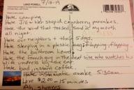 Like most psychopaths, I like to keep a nice journal. Lake Powell, AZ 2003
