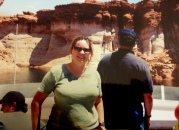 I am considering pooping on the gentleman beside me. Lake Powell, AZ 2003