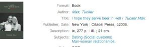 Yes, library, those are the subjects in incredibly broad terms.