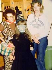 "Me, Mom and Gma. I was either being ""witchy"" or my usual pissed off self."