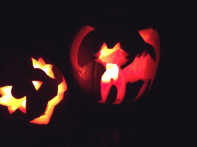 My mad pumpkin carving skills.