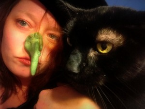 What's a witch without her cat?